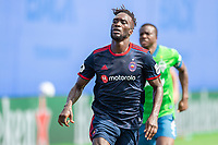 LAKE BUENA VISTA, FL - JULY 14: C.J. Sapong #9 of the Chicago Fire running during a game between Seattle Sounders FC and Chicago Fire at Wide World of Sports on July 14, 2020 in Lake Buena Vista, Florida.