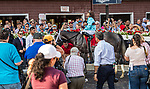 July 15 2021: Pretty Birdie #1, ridden by jockey Luis Saez and trained by Norm Casse wins the Schuylerville Stakes (Grade 3) at Saratoga Race Course in Saratoga Springs, N.Y. on July 15, 2021. Rob Simmons/Eclipse Sportswire/CSM