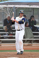 Justin Atkinson #7 of the Langley Blaze, a British Columbia Premier League team, plays against a Chicago Cubs minor league team in an exhibition game at Fitch Park, the Cubs minor league complex, on March 21, 2011 in Mesa, Arizona..Photo by:  Bill Mitchell/Four Seam Images