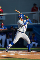 Ricardo Cespedes (32) of the Kingsport Mets at bat against the Danville Braves at American Legion Post 325 Field on July 9, 2016 in Danville, Virginia.  The Mets defeated the Braves 10-8.  (Brian Westerholt/Four Seam Images)