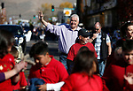Nevada Gov. Steve Sisolak walks in the Nevada Day parade in Carson City, Nev., on Saturday, Oct. 26, 2019.  <br /> Photo by Cathleen Allison/Nevada Momentum
