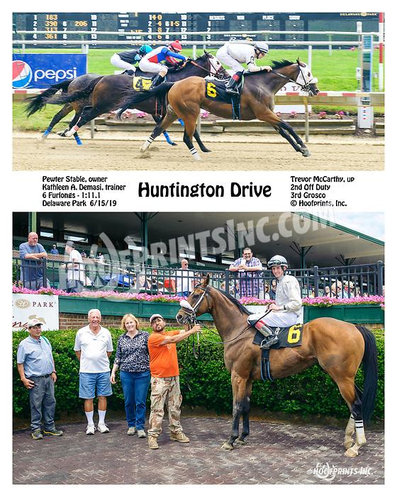 Huntington Drive winning at Delaware Park on 6/15/19