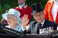 Trooping the Colour - HRH Queen Elizabeth II 91st Birthday - 17.06.2017
