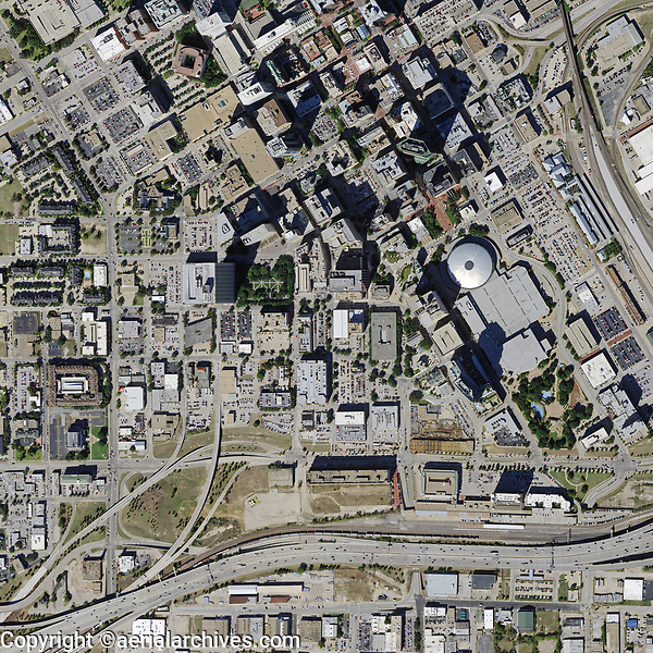 aerial photo map of Fort Worth, Texas, 2015