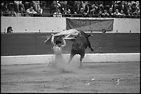 19 Septembre 1971. Vue de la corrida d'El Punto dans les arènes de Toulouse.