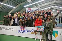 19-01-14,Netherlands, Rotterdam,  TC Victoria, Wildcard Tournament, ,   Final,    Fabian van der Lans (NED) with hid fans.<br /> Photo: Henk Koster