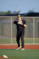 Sal Stewart (4) during the WWBA World Championship at Lee County Player Development Complex on October 8, 2020 in Fort Myers, Florida.  Sal Stewart, a resident of Miami, Florida who attends Westminster Christian High School, is committed to Vanderbilt.  (Mike Janes/Four Seam Images)