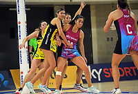 Action from the National Netball League match between Central Manawa and Southern Blast at Te Rauparaha Arena in Porirua, New Zealand on Sunday, 10 May 2021. Photo: Dave Lintott / lintottphoto.co.nz