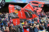 Toulon fans celebrate during the Heineken Cup Final between ASM Clermont Auvergne and RC Toulon at the Aviva Stadium, Dublin on Saturday 18th May 2013 (Photo by Rob Munro)