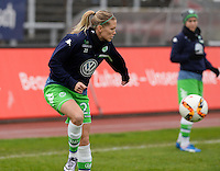 20151213 - KOELN , GERMANY : Wolfsburg 's Lara Dickenmann pictured during the female soccer match between 1.FC Koln and 1. VFL Wolfsburg , on the 11th day of the German Bundesliga season 2015-2016 in sudstadion in Koln. Sunday 13 December 2015 . PHOTO DAVID CATRY
