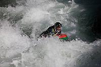Europe/France/Provence-Alpes-Côtes d'Azur/06/Alpes-Maritimes/Alpes-Maritimes/Arrière Pays Niçois/Fontan:  Nage en eau vive, hydrospeed, dans la vallée de la Roya