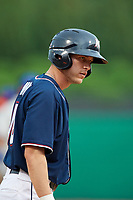 Northwest Arkansas Naturals right fielder Logan Moon (18) during a game against the Midland RockHounds on May 27, 2017 at Arvest Ballpark in Springdale, Arkansas.  NW Arkansas defeated Midland 3-2.  (Mike Janes/Four Seam Images)