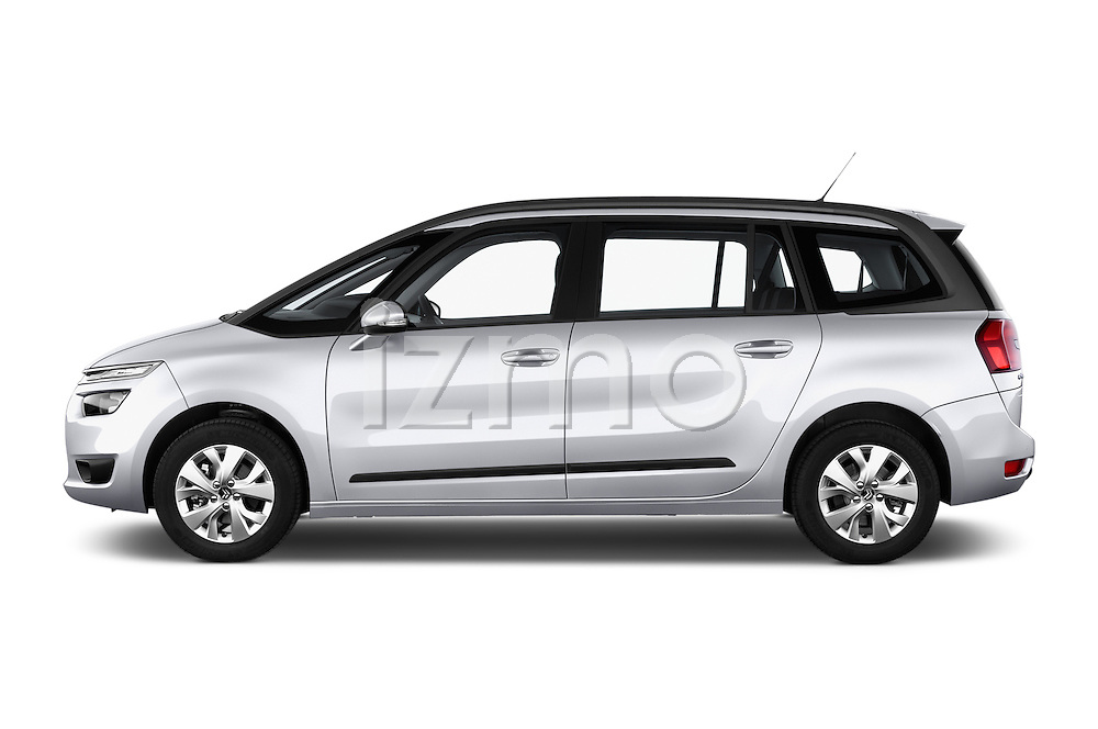 Driver side profile view of a 2013 Citroen GRAND C4 PICASSO Intensive 5 Door Minivan 2WD