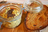 scrambled egg fresh black truffles and bread rhone france
