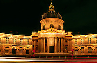 Night shot of the INSTITUTE OF FRANCE - PARIS, FRANCE