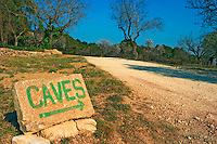 A painted sign with an arrow to the winery  at Mas de Gourgonnier, in Les Baux de Provence, Bouche du Rhone, France