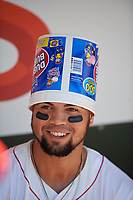 Florida Fire Frogs Jefrey Ramos (15) before a Florida State League game against the Jupiter Hammerheads on April 11, 2019 at Osceola County Stadium in Kissimmee, Florida.  Jupiter defeated Florida 2-0.  (Mike Janes/Four Seam Images)