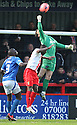 Trevor Carson of Portsmouth punches clear under pressure<br />  - Stevenage v Portsmouth - FA Cup 1st Round  - Lamex Stadium, Stevenage - 9th November, 2013<br />  © Kevin Coleman 2013
