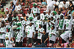 17.07.2010,  Augsburg, GER, FIFA U20 Womens Worldcup, Nigeria vs Japan,  im Bild Nigerianische Fans feiern  , Foto: nph /  Straubmeier