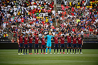 East Hartford, CT - Saturday July 01, 2017: USA Starting Eleven during an international friendly match between the men's national teams of the United States (USA) and Ghana (GHA) at Pratt & Whitney Stadium at Rentschler Field.