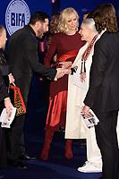 Jason Isaacs, Joely Richardson and Vanessa Redgrave<br /> arriving for the British Independent Film Awards 2017 at Old Billingsgate, London<br /> <br /> <br /> ©Ash Knotek  D3359  10/12/2017