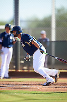 Milwaukee Brewers Ronnie Gideon (23) during an Instructional League game against the Cincinnati Reds on October 14, 2016 at the Maryvale Baseball Park Training Complex in Maryvale, Arizona.  (Mike Janes/Four Seam Images)