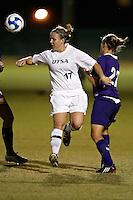 SAN ANTONIO, TX - OCTOBER 31, 2008: The University of Central Arkansas Bears vs. The University of Texas at San Antonio Roadrunners Women's Soccer at the UTSA Soccer Field. (Photo by Jeff Huehn)