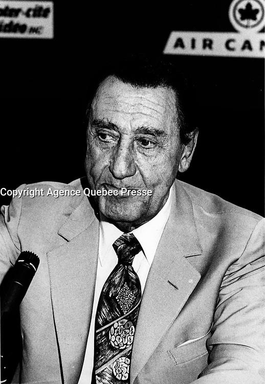 FILE - Alberto Kordi<br /> <br /> at the World Film Festival<br /> , 1994<br /> <br /> Photo : <br /> Pierre Roussel - Agence Quebec Presse