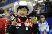 SPEEDSKATING: CALGARY: Olympic Oval, 03-12-2017, ISU World Cup, 500m Ladies Division A, Nao Kodaira (JPN), 36.53, track record, national record, ©photo Martin de Jong