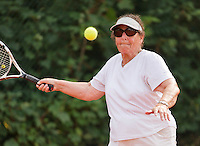Netherlands, Amstelveen, August 21, 2015, Tennis,  National Veteran Championships, NVK, TV de Kegel,  Final lady's 80+, Anneke Balics<br />