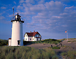Cape Cod National Seashore, MA <br /> Early morning clouds over Race Point Lighthouse (1876) at Race Point