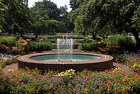 Portsmouth, NH, New Hampshire, Fountain at Public Gardens in Portsmouth.