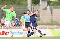 Niklas Schneider (Waldalgesheim) gegen Jonathan Trost (Ingelheim) - SV Alem. Waldalgesheim trifft in der 1. Runde des DFB-Pokal auf Bayer Leverkusen und spielt gegen Ingelheim den Saisonauftakt