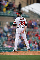 Rochester Red Wings pitcher Jake Reed (39) during an International League game against the Charlotte Knights on June 16, 2019 at Frontier Field in Rochester, New York.  Rochester defeated Charlotte 3-2 in the second game of a doubleheader.  (Mike Janes/Four Seam Images)