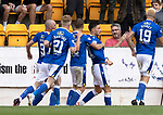 St Johnstone v Rangers…11.09.21  McDiarmid Park    SPFL<br />Michael O'Halloran celebrates his goal<br />Picture by Graeme Hart.<br />Copyright Perthshire Picture Agency<br />Tel: 01738 623350  Mobile: 07990 594431