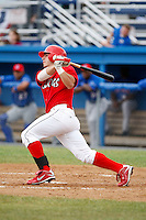 June 21, 2009:  Second Baseman Alan Ahmady of the Batavia Muckdogs at bat during a game at Dwyer Stadium in Batavia, NY.  The Muckdogs are the NY-Penn League Short-Season Class-A affiliate of the St. Louis Cardinals.  Photo by:  Mike Janes/Four Seam Images