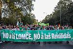 Manifestation against the education reform in Madrid, Spain. October 26, 2016. (ALTERPHOTOS/Rodrigo Jimenez)