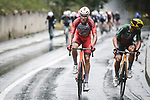 Anthony Perez (FRA) Cofidis and Sonny Colbrelli (ITA) Bahrain Victorious attack during Stage 9 of the 2021 Tour de France, running 150.8km from Cluses to Tignes, France. 4th July 2021.  <br /> Picture: A.S.O./Pauline Ballet   Cyclefile<br /> <br /> All photos usage must carry mandatory copyright credit (© Cyclefile   A.S.O./Pauline Ballet)