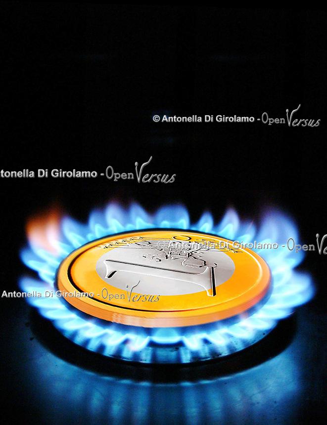 Aumento dei prezzi per la fornitura di gas domestico..Rising prices for the supply of domestic gas.....