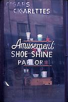 Window advertising Shoe Shine<br />