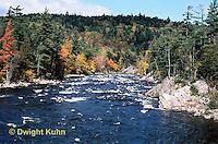 WF12-002z  Rapids near Baxter State Park, Maine - Penobscot River, autumn