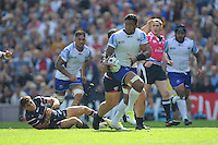 Iosefa Tekori of Samoa breaks free of Mike Petri of USA's tackle during Match 6 of the Rugby World Cup 2015 between Samoa and USA - 20/09/2015 - Brighton Community Stadium, Brighton <br /> Mandatory Credit: Rob Munro/Stewart Communications
