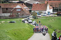 peloton up the Knokteberg<br /> <br /> 64th E3 Classic 2021 (1.UWT)<br /> 1 day race from Harelbeke to Harelbeke (BEL/204km)<br /> <br /> ©kramon