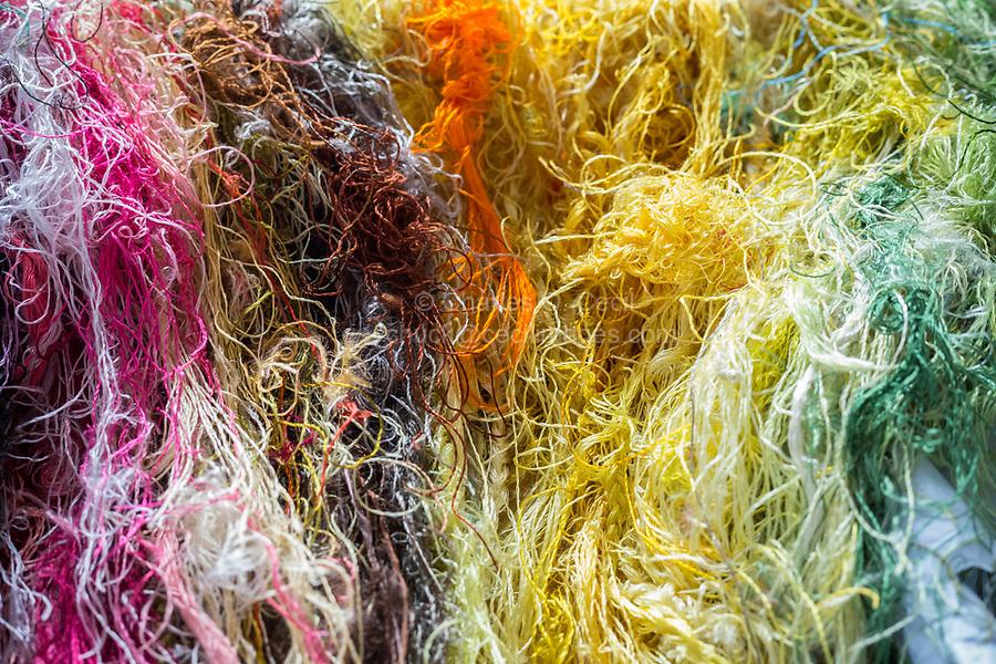 Suzhou, Jiangsu, China.  Embroidery Thread.