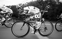 Lars Bak (DNK) minimising resistance/effort<br /> <br /> 2013 Ster ZLM Tour <br /> stage 4: Verviers - La Gileppe (186km)