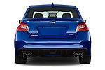 Straight rear view of 2018 Subaru WRX Base 4 Door Sedan stock images