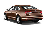 Car pictures of rear three quarter view of 2017 Volkswagen Jetta S 4 Door Sedan Angular Rear