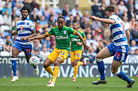 Preston North End's Daniel Johnson  competing with Reading's Matt Miazga <br /> <br /> Photographer Andrew Kearns/CameraSport<br /> <br /> The EFL Sky Bet Championship - Reading v Preston North End - Saturday 30th March 2019 - Madejski Stadium - Reading<br /> <br /> World Copyright © 2019 CameraSport. All rights reserved. 43 Linden Ave. Countesthorpe. Leicester. England. LE8 5PG - Tel: +44 (0) 116 277 4147 - admin@camerasport.com - www.camerasport.com