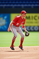 Washington Nationals Carter Kieboom (9) during a Florida Instructional League game against the Miami Marlins on September 26, 2018 at the Marlins Park in Miami, Florida.  (Mike Janes/Four Seam Images)