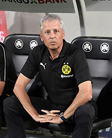 20.08.2018, Football DFB Pokal 2018/2019, 1. round, SpVgg Greuther Fuerth - Borussia Dortmund, Sportpark Ronhof in Fuerth. Trainer Lucien Favre (Dortmund).<br /><br /><br />***DFB rules prohibit use in MMS Services via handheld devices until two hours after a match and any usage on internet or online media simulating video foodaye during the match.***  *** Local Caption *** © pixathlon<br /> <br /> Contact: +49-40-22 63 02 60 , info@pixathlon.de